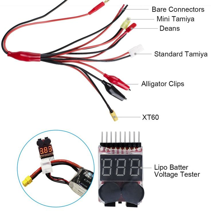 Lipo Battery Charger with Voltage Checker