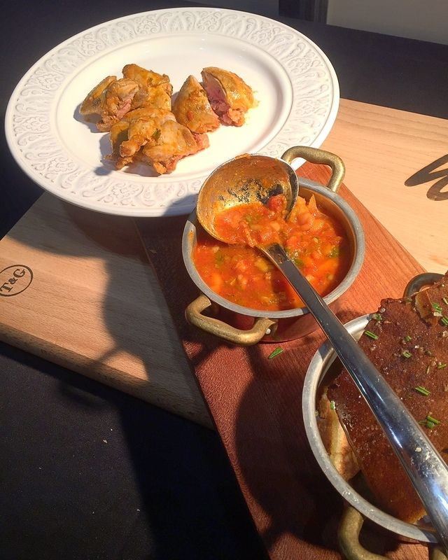 Stuffed quail, nduja and white bean stew baked under a bread crust recipe by professional chef Luke Holder, Lime Wood Hotel