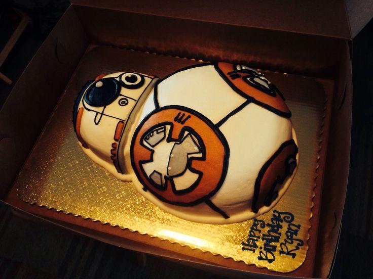 bb8 birthday cake from star wars star wars birthday