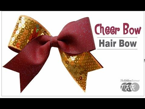 How to Make a Cheer Bow Hair Bow - VIDEO HOW TO ATTACH PONY O TO BOW....GOOD DETAILS OF HOW TO