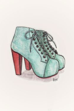 sketch of shoes