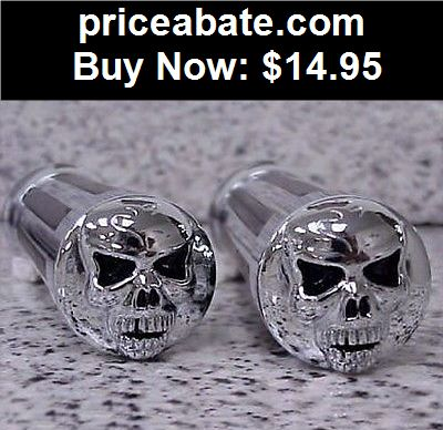 Motors-Parts-And-Accessories: Harley Davidson Sportster Dyna Softail CHROME GRIPS - BUY IT NOW ONLY $14.95