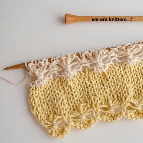 Como tricotar uma linha de flores