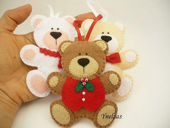 Ornamento di Natale orsi Feltro Natale ornamenti di ynelcas
