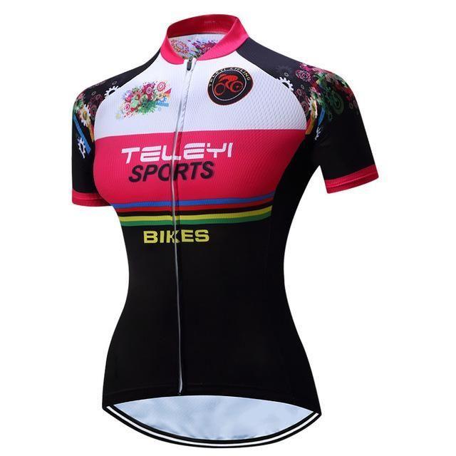 Teleyi Women Summer Racing Sport Bike Shirt Mtb Bicycle Clothes Breathable Cycling  Clothing Ropa 36ba8c818