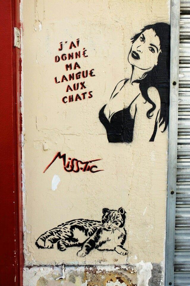 Miss Tic - street art - Paris 13 - rue de la butte aux cailles