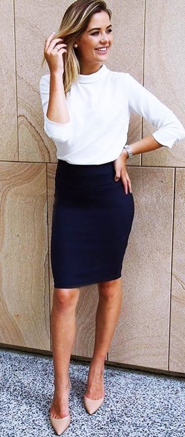 300f3534e8 Pencil Skirt Outfit Ideas Pinterest – DACC