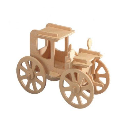 3d wooden vintage car puzzle for kids adults