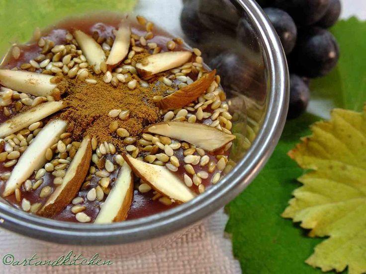 Moustalevria a Greek Creamy Grape JuicePudding