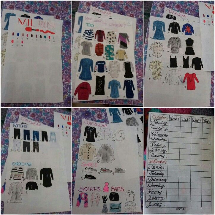 #wardrobe #bulletjournal #bujo #planner #nailpolish