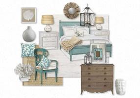 Create interior design moodboards: Guest Room, Bedroom Redo, Beach Bedrooms, Blue Color, Living Room, Bedroom Reality, Beach Room, Bedroom Ideas