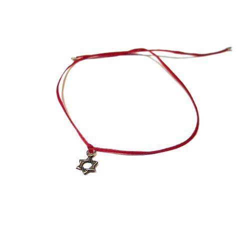 RAVE von PerePaix Handmade Schmuck - Rotes Kabbala-Armband mit Sterlingsilber Hufeisen: 30€