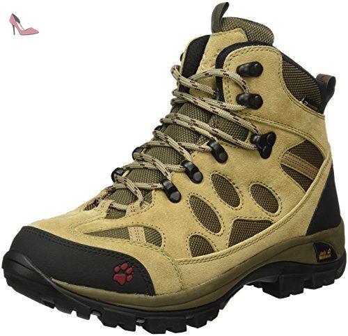 MTN Storm Texapore Low W, Chaussures de Randonnée Basses Femme, Beige (Racing Red 2051), 40.5 EUJack Wolfskin