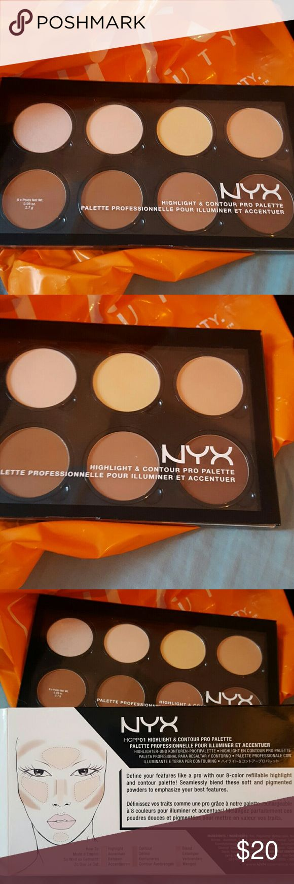 NYX PALETTE NYX Contour Palette. Swatched one time. Still in origional packaging. GREAT CONDITION! #1 Seller in stores NYX Makeup Face Powder