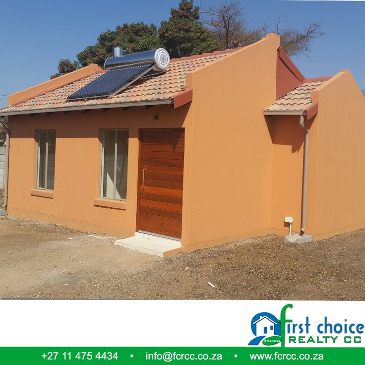 One of the finished houses, developed by First Choice Realty in Pretoria North, Wolmer! Visit our Website: besociable.link/4g ‪#‎PretoriaNorth‬ ‪#‎affordablehousing‬ ‪#‎property‬