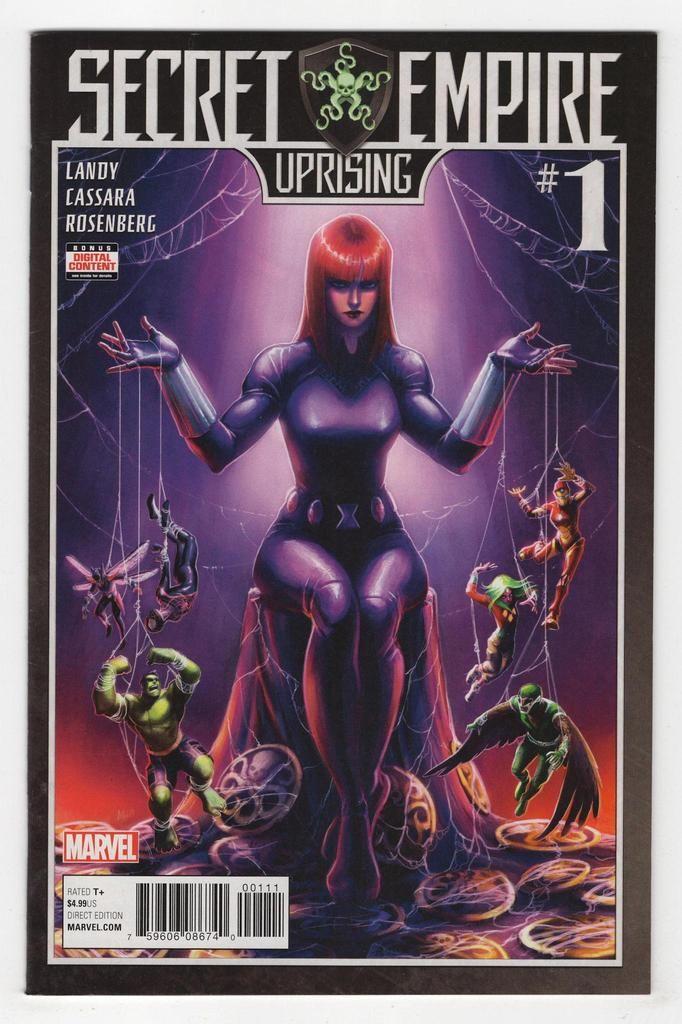 Secret Empire Uprising 1 Regular Meghan Hetrick Cover 2017 Marvel Events Marvel Comics Marvel