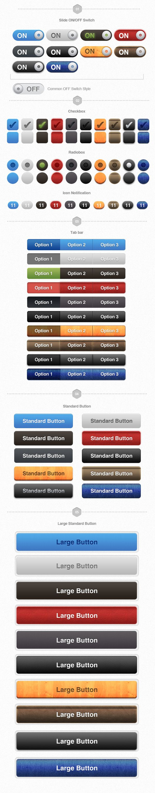 UI Pack for iOS – Build Apps. Awesomely! by Rebirth PIXEL, via Behance