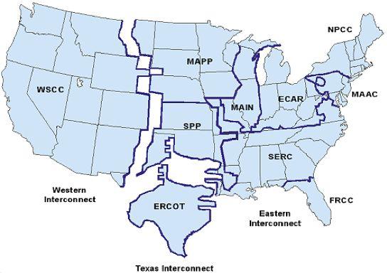 Eastern Power Grid | the three U.S. power grids