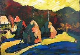 Sandor Ziffer Hungarian post-impressionist. this work shows the influence of german expressionism