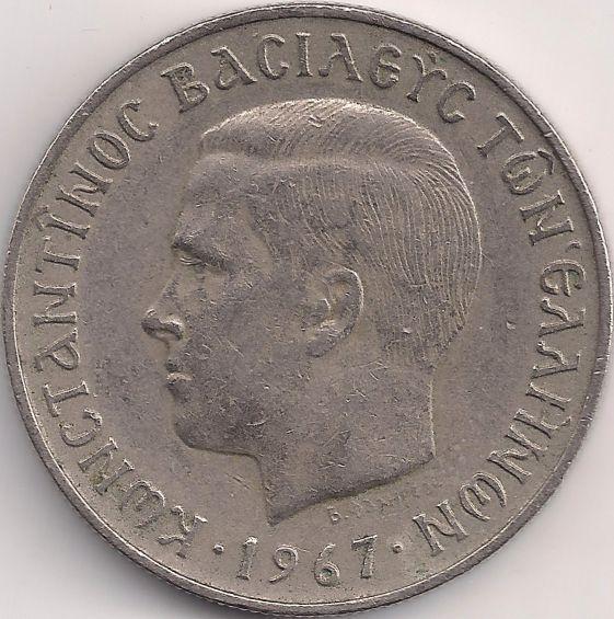 Motivseite: Münze-Europa-Südosteuropa-Griechenland-Drachme-2.00-1966-1970