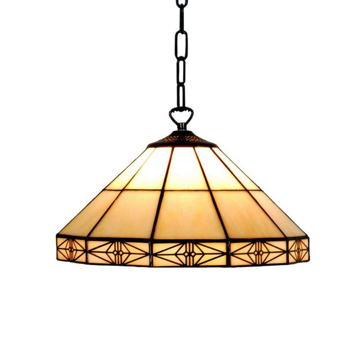 Dorchester 1 Bulb Tiffany Ceiling Pendant Light by Tiffany Lighting Direct