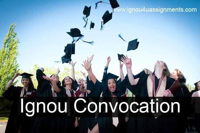 Fill Ignou Convocation Online Registration Form