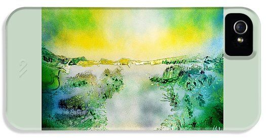 Lake Of Transparency IPhone 5 / 5s Case Printed with Fine Art spray painting image Lake Of Transparency by Nandor Molnar (When you visit the Shop, change the orientation, background color and image size as you wish)