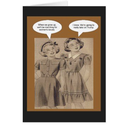 Girls taking on Trump Card - fun gifts funny diy customize personal