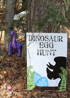Dinosaur Egg Hunt Sign
