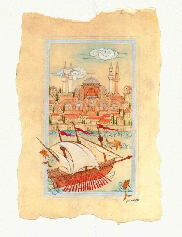 ancient Istanbul by yasemin akyol, via Behance