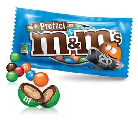 Pretzel M and M - salty, chocolatey and crunchy. Plus only 150 calories a bag! Think I'm addicted!!