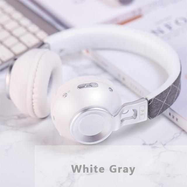 Sound Intone P8 Bass Metal Stretchable Headband Wireless Bluetooth Headphones With Mic