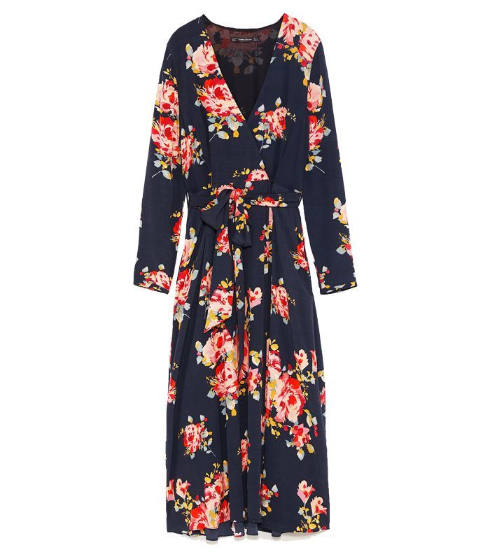 Best Wrap Dresses Zara Floral Print Midi Dress Wedding Guest Dress Floral Print Midi Dress Wrap Dress Floral