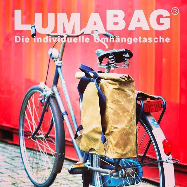 THE URBAN TRAVELLER from LUMABAG. Available from February #backpack #rucksack#fahrradtasche#bike#bag#cotton#waxedcanvas #waxedcotton #bremen#hamburg#overtheworld