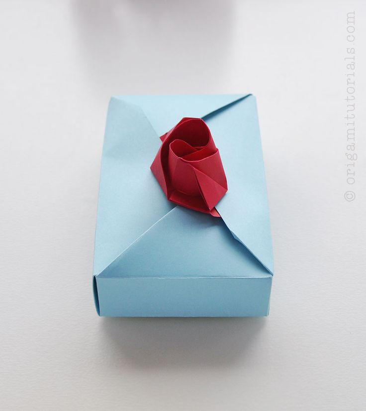 Origami A4 Box and Rose Decoration