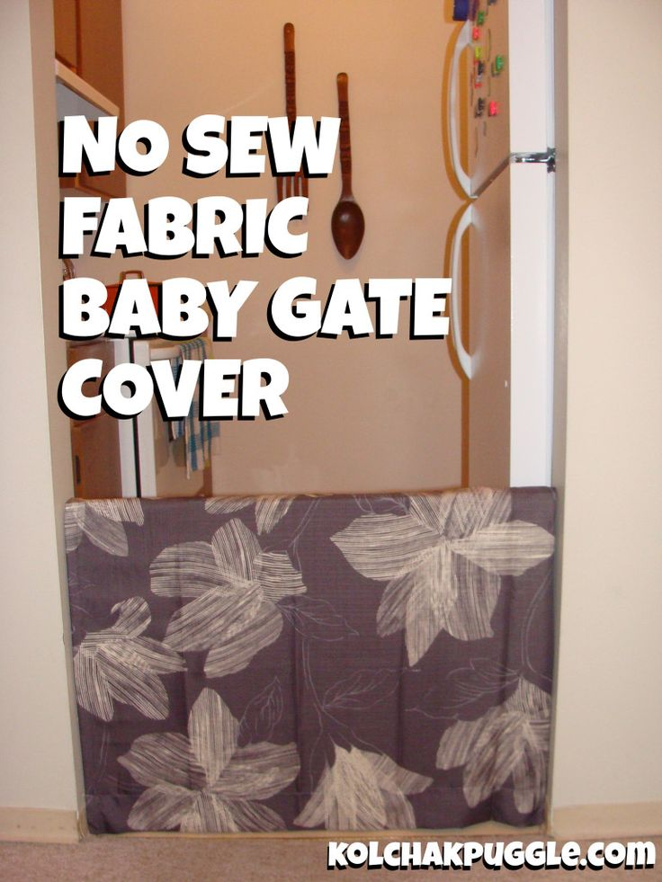 "In an attempt to make my house look less ""Playskool Chic"", I recently made these No Sew Fabric Baby Gate Covers. And by recently, I mean ""way back in July before we moved."" I'm the worst. Baby gates are an eye sore, but a necessary part of life at Casa de Kolchak. We've talked about how Felix has some reactivity issues, and"