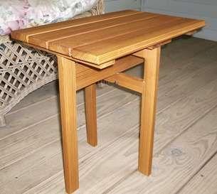 26 best diy folding table plans images on pinterest for Folding side table plans