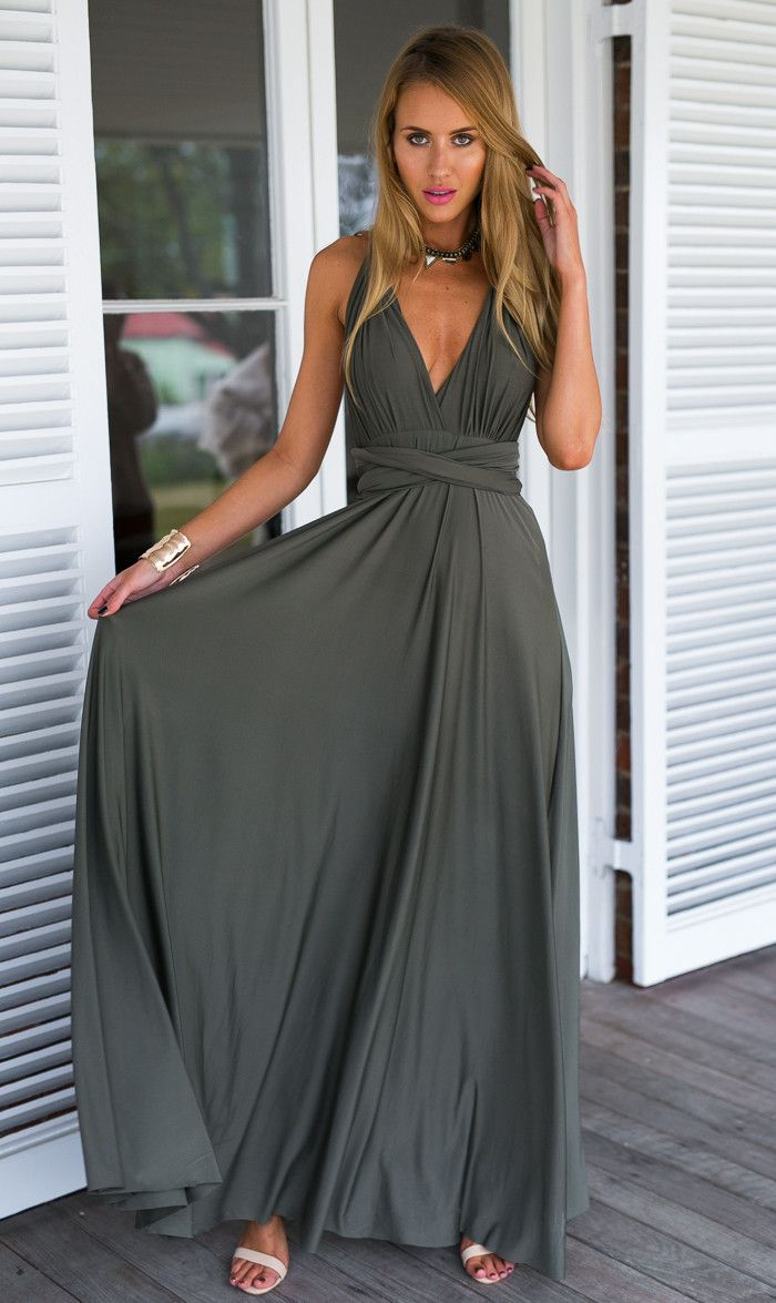 Pinot Noir Dress (Khaki)