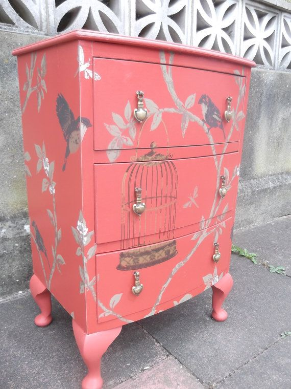 SOLD Vintage Bow Front Nightstand/Bedside Table by PhewFurniture ♡♡