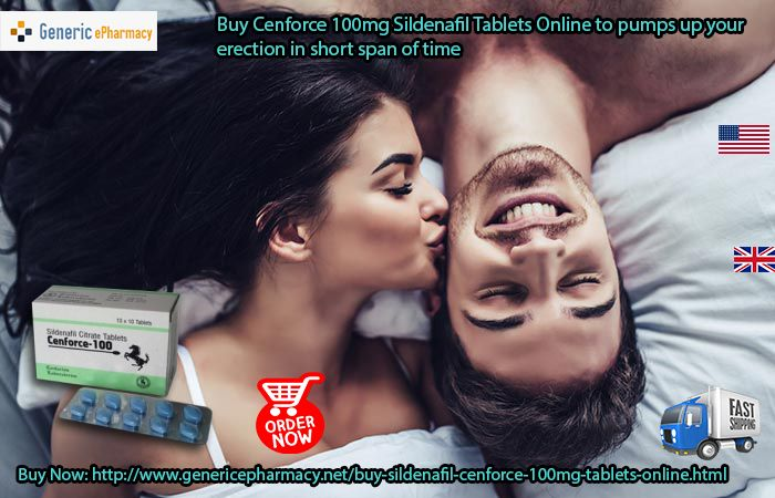 You must start using single tablet of #Cenfirce100mg #Sildenafil prior to intimacy act. #Buy_Cenforce100mg #Sildenafil_Tablets Online in #USA #UK for #Sale at an economical price with the speedy mode of delivery in #Canada #Australia #London #Ireland #Sydney #Europe #Brazil #Italy #France. Visit at: http://www.genericepharmacy.net/buy-sildenafil-cenforce-100mg-tablets-online.html