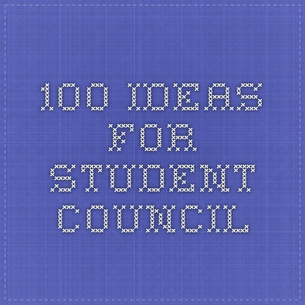 100 ideas for Student Council                                                                                                                                                     More