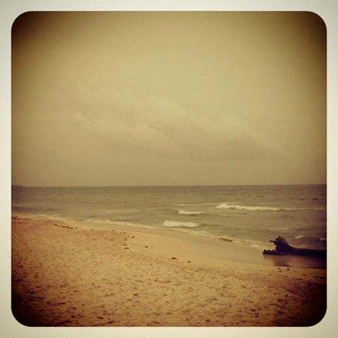 - Vintage filter - Playa del Carmen postcard for our followers. Looking good on a gray day.