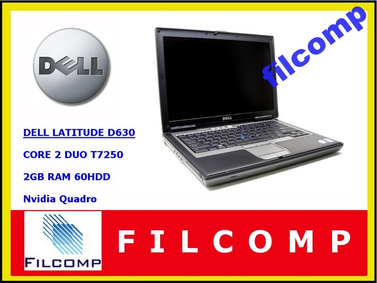 LAPTOP DELL LATITUDE D630 T7250 2GB NVIDIA 60GB