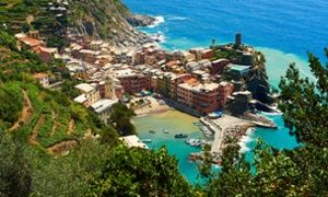 The fishing port of Vernazza in the morning light.
