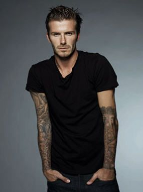 David Beckham... goes directly to my collection of men (virtual, hahaha!) :)
