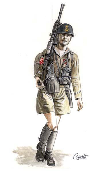 1942 Marinaio del Battaglione San Marco in tenuta coloniale - Regio Esercito, pin by Paolo Marzioli