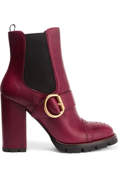 Prada - Leather Platform Boots - SALE20 at Checkout for an extra 20% off