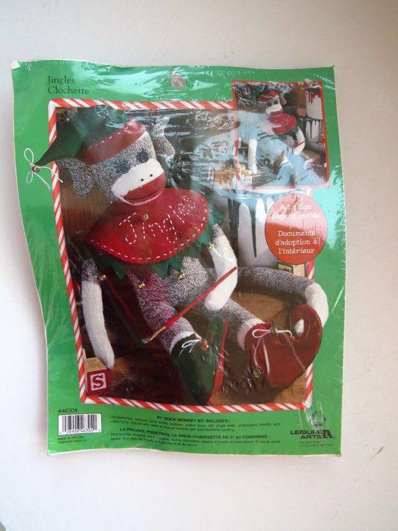 Jingles Sock Monkey Craft Kit 46304 Includes by shabbyshopgirls