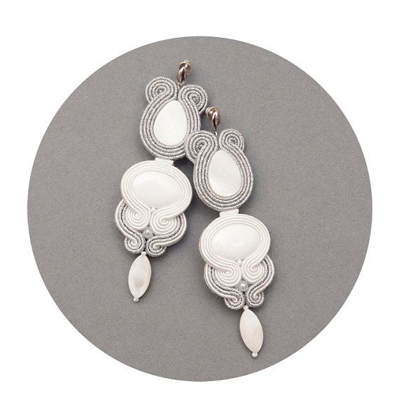 Hey, I found this really awesome Etsy listing at https://www.etsy.com/listing/185082844/white-wedding-stud-earrings-in