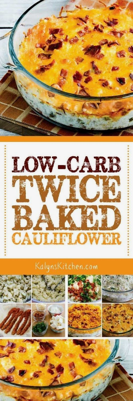Low-Carb Twice-Baked Cauliflower (and Announcing a BIG CHANGE for Kalyn's Kitchen!)